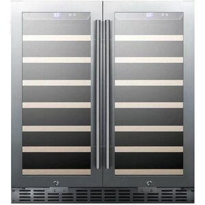 Summit 30-inch 70 Bottle Dual Zone Built-In Wine Cooler by Summit Appliance