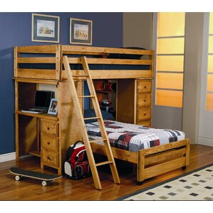 Bunk Beds With Storage bookcase bunk & loft beds you'll love | wayfair