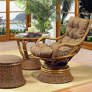 Biscayne Woven Rattan Lounge Chair