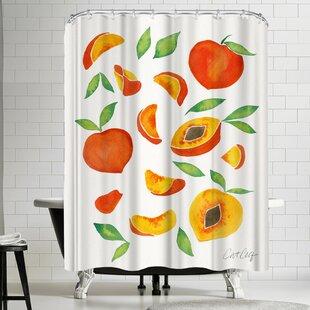 Light Peach Shower Curtains