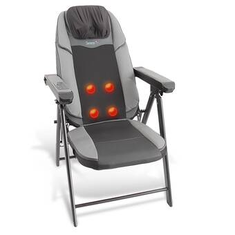 Awesome Ebern Designs Reclining Massage Chair With Ottoman Reviews Interior Design Ideas Clesiryabchikinfo