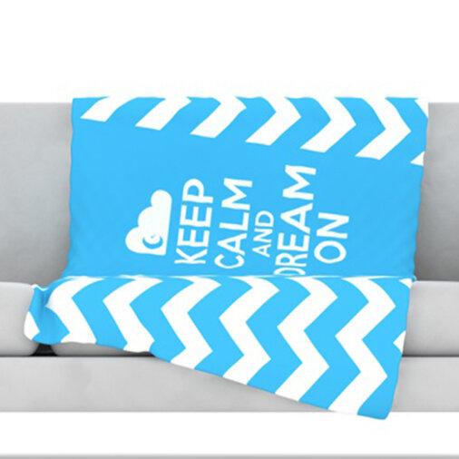 KESS InHouse Keep Calm Fleece Throw Blanket Wayfair Enchanting Keep Calm And Throw A Blanket On It