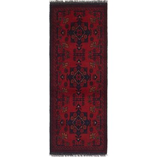 One Of A Kind Auxve Hand Knotted Runner 1 10 X 4 Wool Red Blue Area Rug