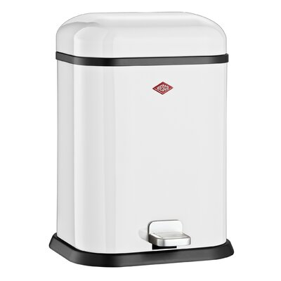 Wesco Singleboy 3.4 Gallon Step On Bathroom Trash Can Color: White
