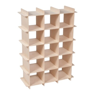 Harriet Bee Oundle Kids 15-Compartment 15 Pair Shoe Rack Finish: Natural