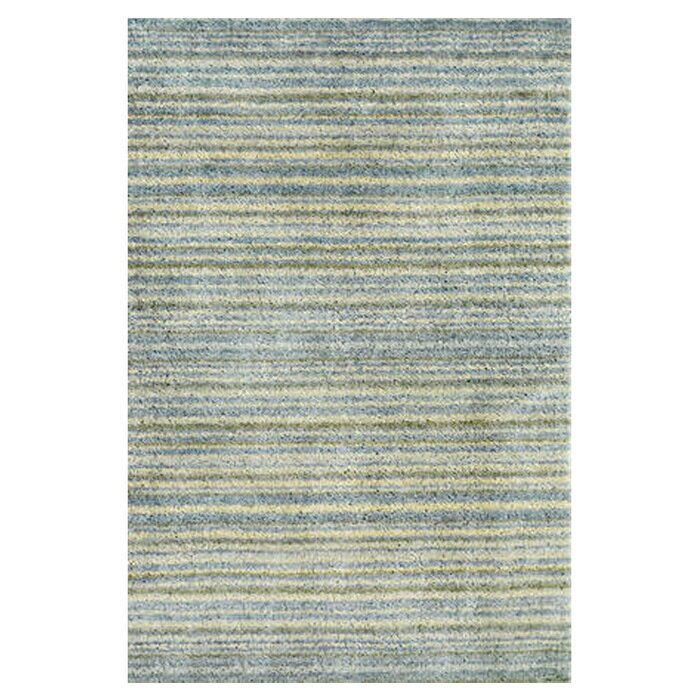Tufted blue area rug