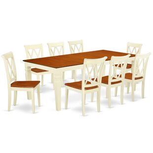 Labounty 9 Piece Extendable Solid Wood Dining Set