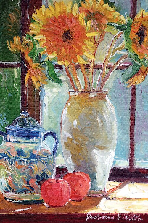 Charlton Home Sunflowers In A Vase Painting Print On Wrapped Canvas