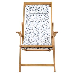 Mtecombe Folding Deck Chair with Cushion by Lynton Garden