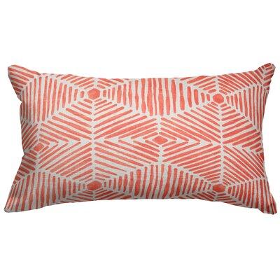 Trule Teen Ashby Cotton Lumbar Pillow Color: Salmon