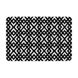 Trebam Dijagonala Geometric Memory Foam Bath Rug