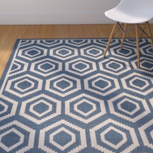 Catharine Navy/Beige Outdoor Rug
