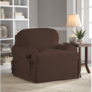 Relaxed Fit Duck Furniture T-Cushion 3 Piece Slipcover Set by Red Barrel Studio