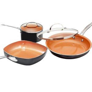 College 5 Piece Non-Stick Cookware Set