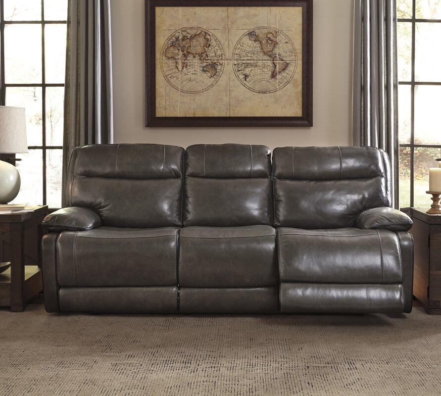 Gigi Leather Reclining Sofa
