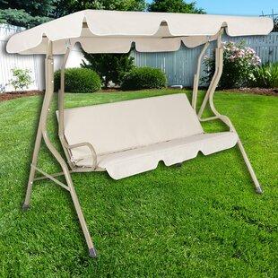 Bon Steele Patio Swing Canopy Hammock Glider Bench With Cushions