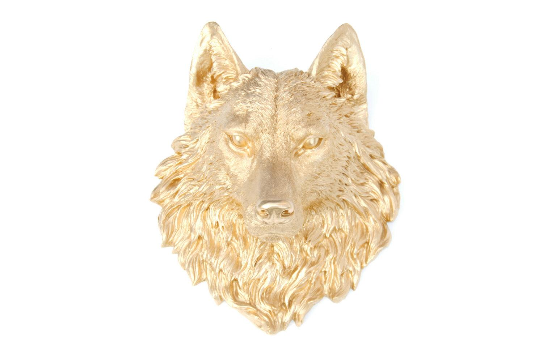 Union Rustic Faux Taxidermy Wolf Head Wall Décor   Wayfair