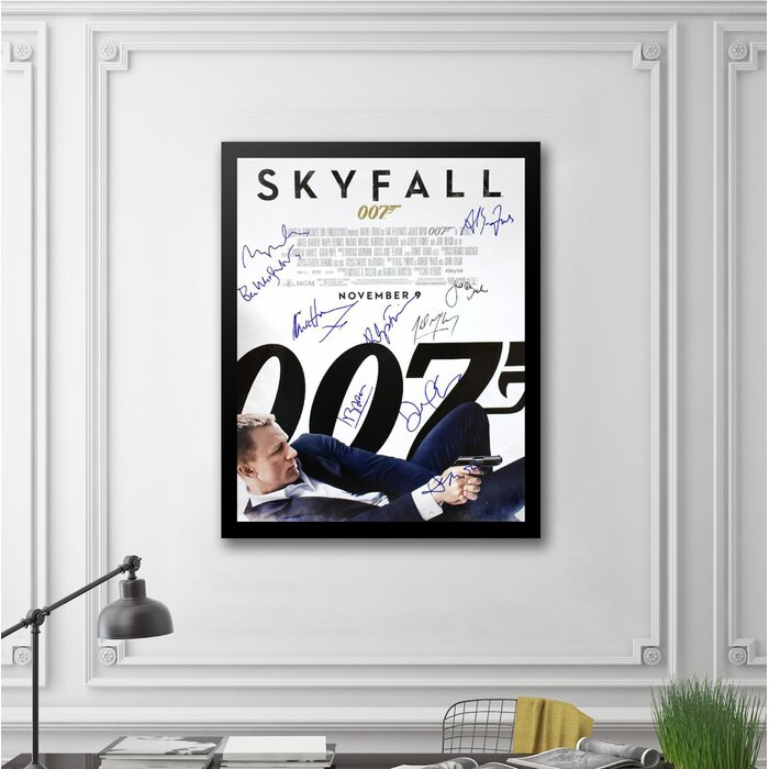 LuxeWest James Bond \'Skyfall\' Framed Autographed Movie Poster ...