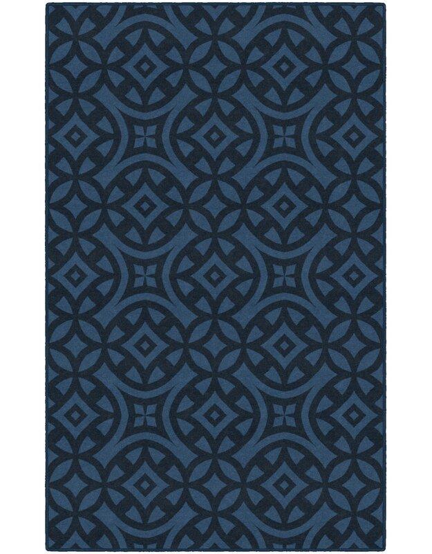 World Menagerie Melendez Trellis Blue Area Rug, Size: Rectangle 76 x 10