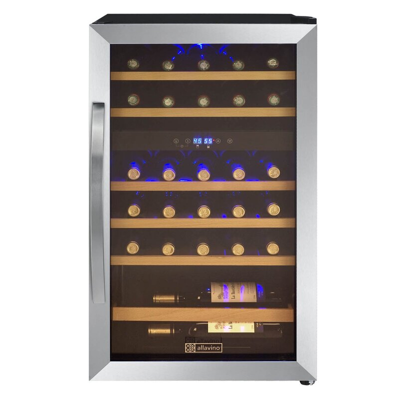 Allavino 29 Bottle Cascina Dual Zone Freestanding Wine Cooler