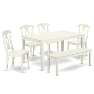 Kristian 6 Piece Solid Wood Dining Set