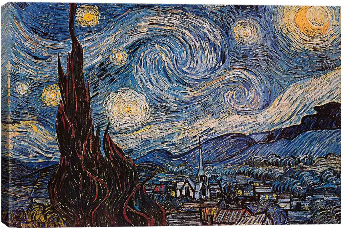 east urban home u0027the starry night u0027 by vincent van gogh graphic art
