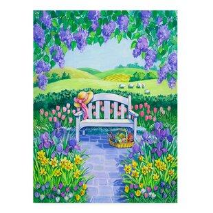 U0027Garden Seatu0027 Acrylic Painting Print On Wrapped Canvas