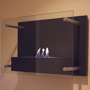Radia Wall Mount Bio-Ethanol Fireplace by Nu-Flame