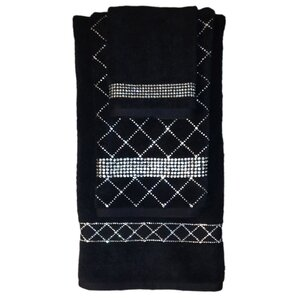 3 Piece Rhinestone Guest Towel Set