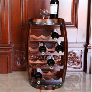 Loretta Wooden Barrel Shaped 14 Floor Wine Bottle Rack