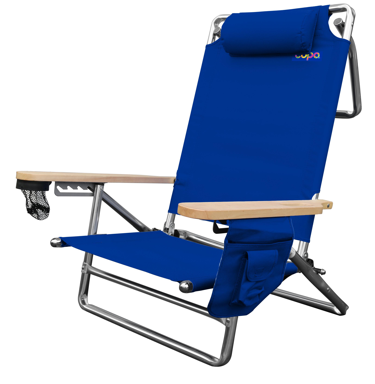 Freeport Park Jaycee Deluxe Folding Beach Chair | Wayfair