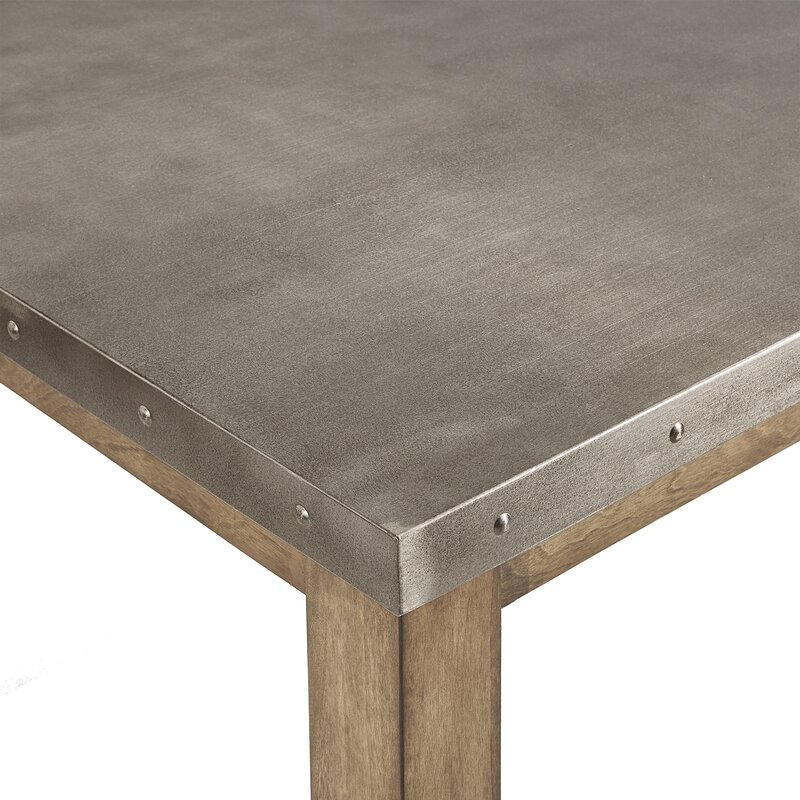 Stainless Steel Top Dining Table Reviews Birch Lane
