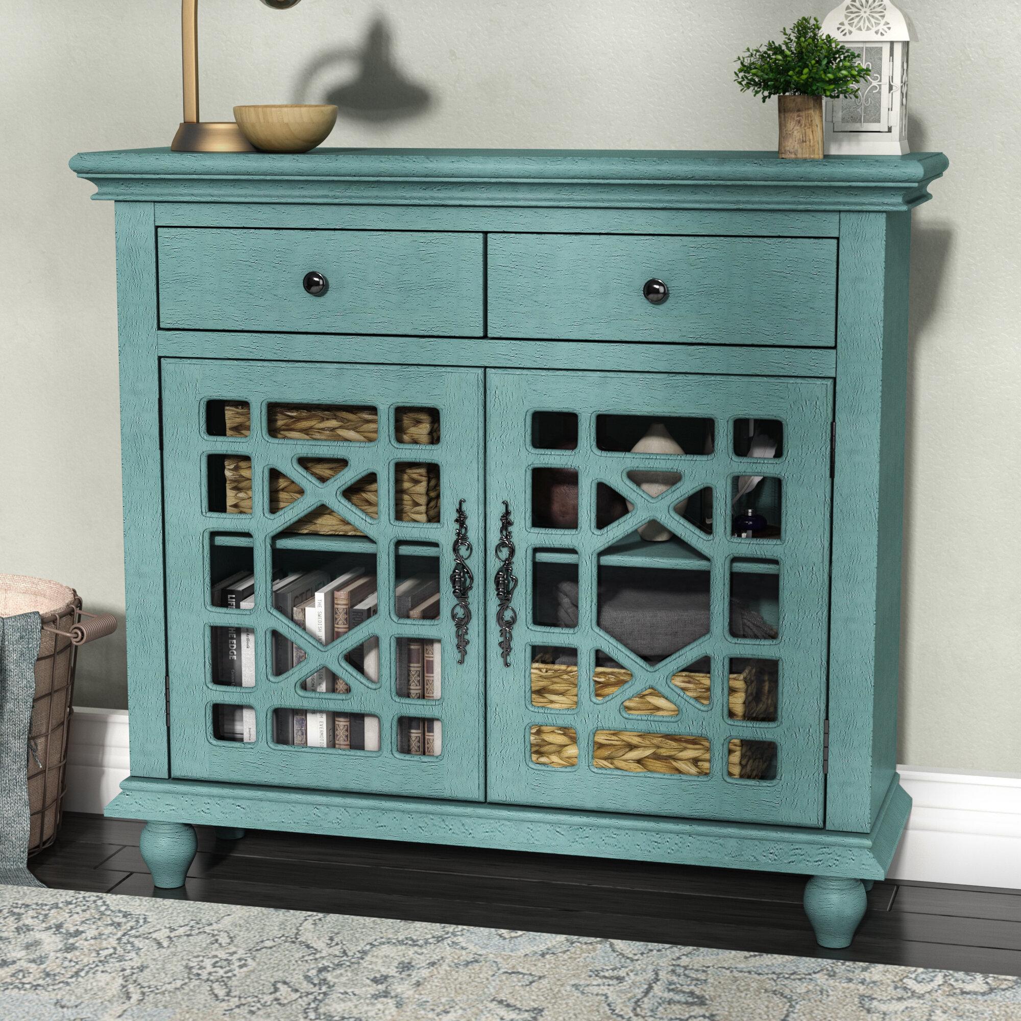 Lark Manor Mauldin 2 Drawer 2 Door Cabinet & Reviews   Wayfair