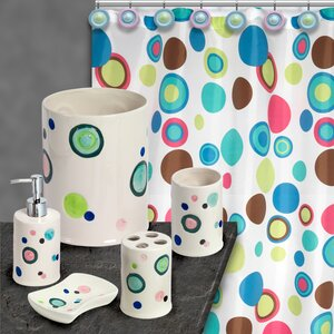 Bubble Gum Complete 18-Piece Bathroom Accessory Set
