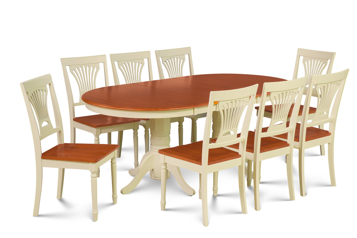 Darby Home Co Inwood 9 Piece Rubber Wood Dining Set | Wayfair