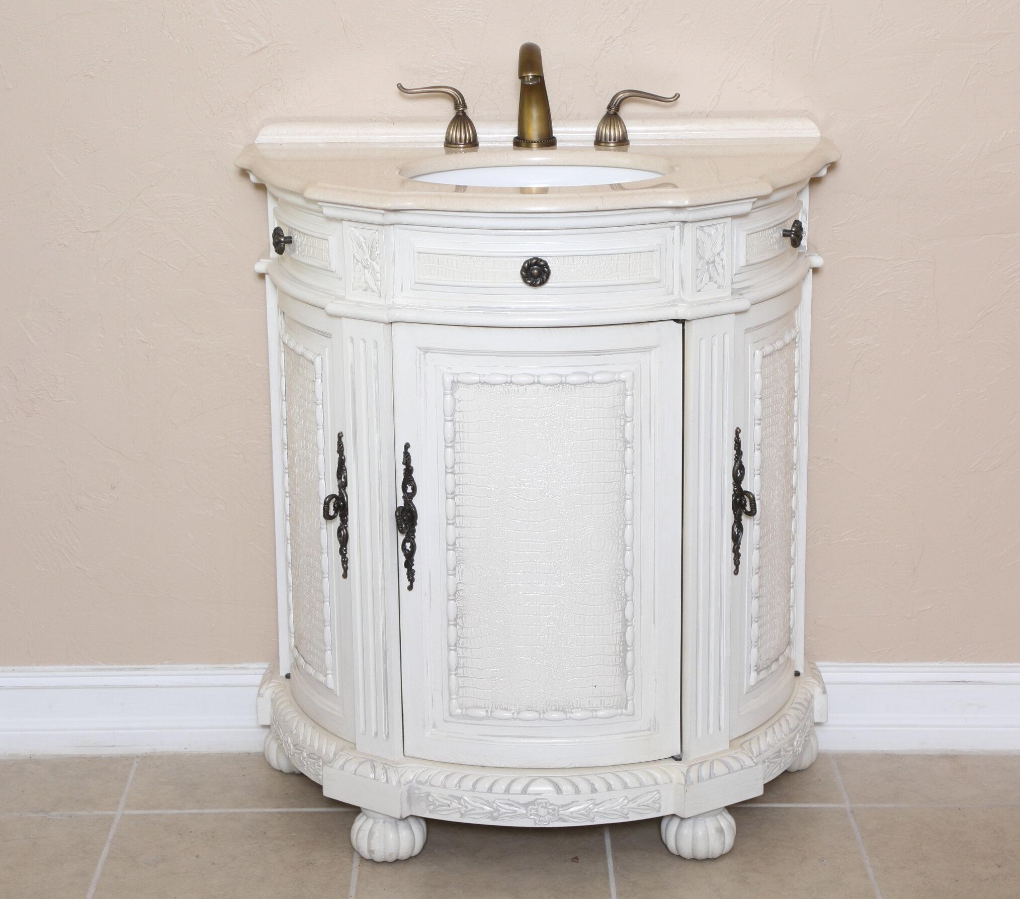 B I Direct Imports Josh 31 Single Demilune Bathroom Vanity Set Wayfair