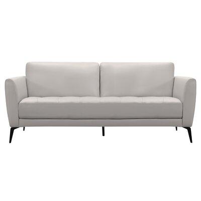 Kaleb Tufted Leather Sofa Wayfair