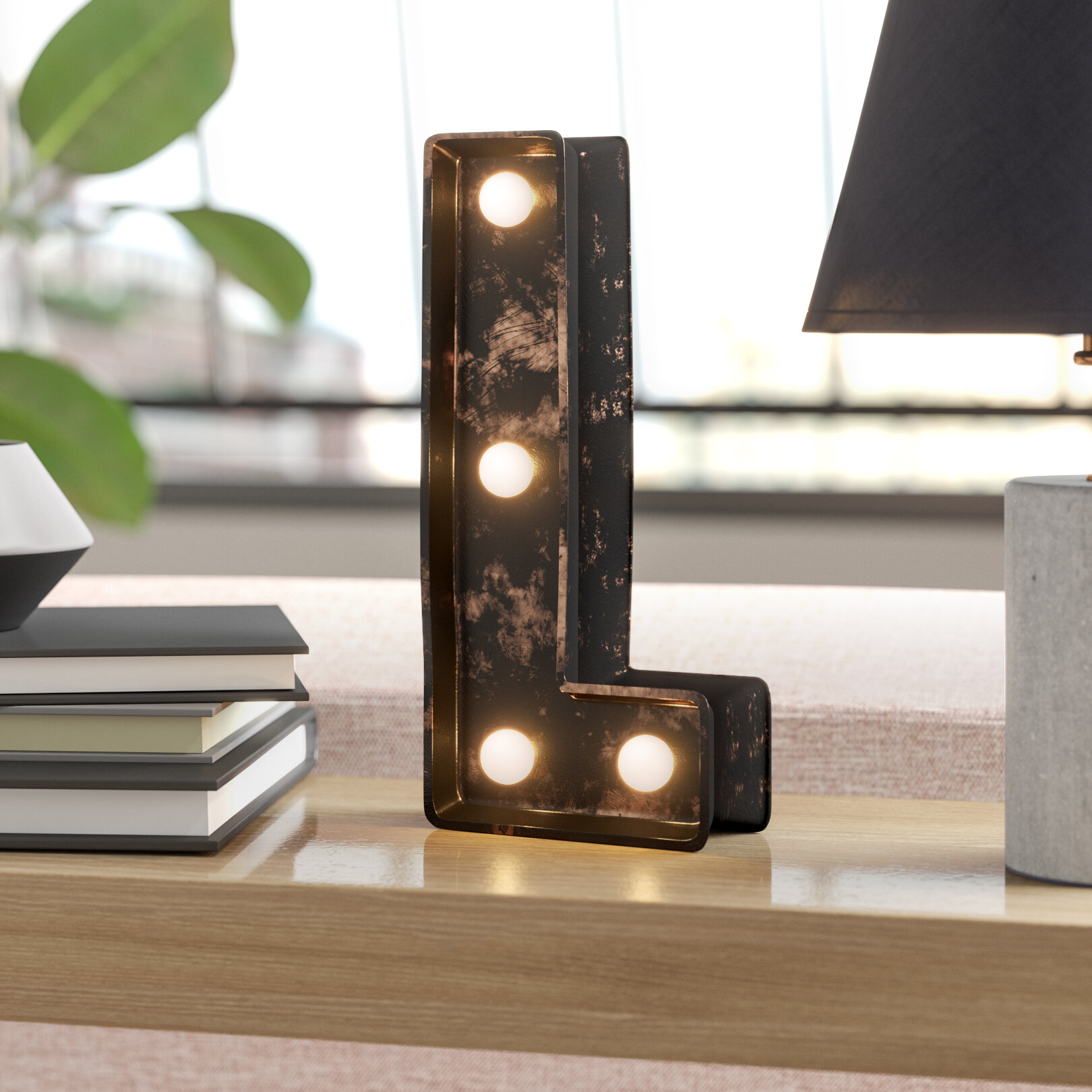 Battery Operated Plastic LED Letter Block