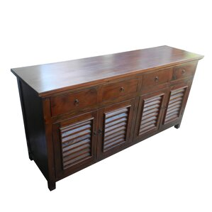 Diannah Wooden 4 Door Buffet Table by Darby Home..