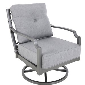 konevsky aluminum outdoor deep seating swivel patio chair with cushion set of 4