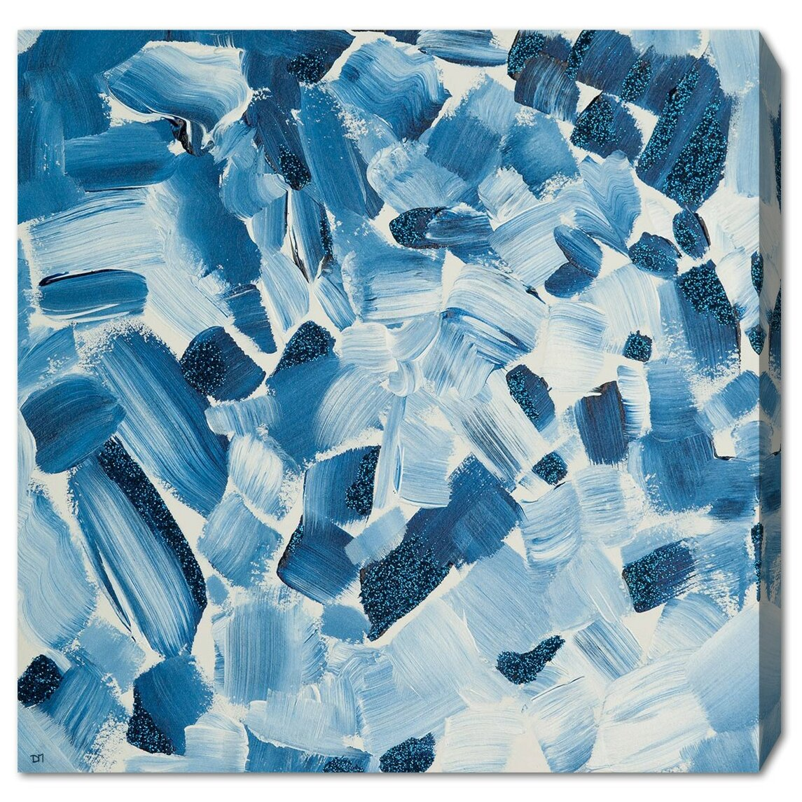 Bronx Blue Bedroom Project: Ivy Bronx 'Blue' Painting Print On Canvas