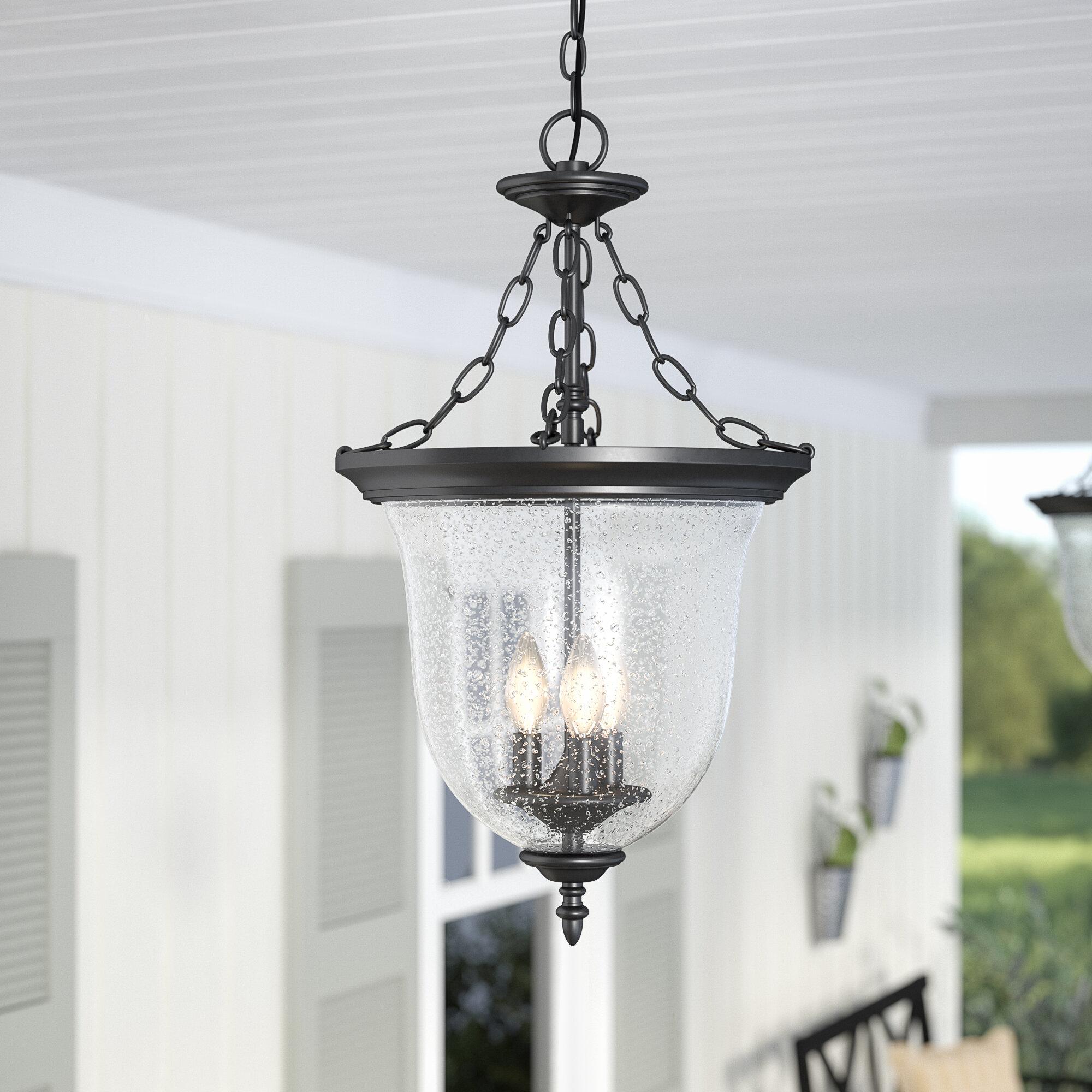 Laurel foundry modern farmhouse maxillaria 3 light outdoor pendant reviews wayfair