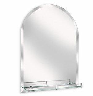 Erias Home Designs Arch Wall Mirror with Glass Shelf | Wayfair
