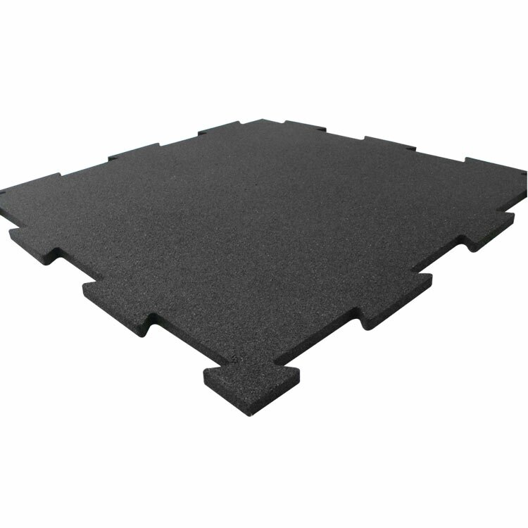 RubberCal Inc PuzzleLock Rubber Flooring Mat Wayfair - Weight lifting floor pads