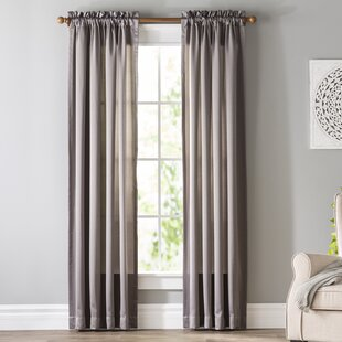 Gray And Silver White Curtains Drapes Youll Love Wayfair