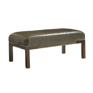 Coventry Hills Norflok Leather Ottoman by Lexington