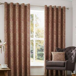 Avenida Eyelet Room Darkening Curtains Set Of 2