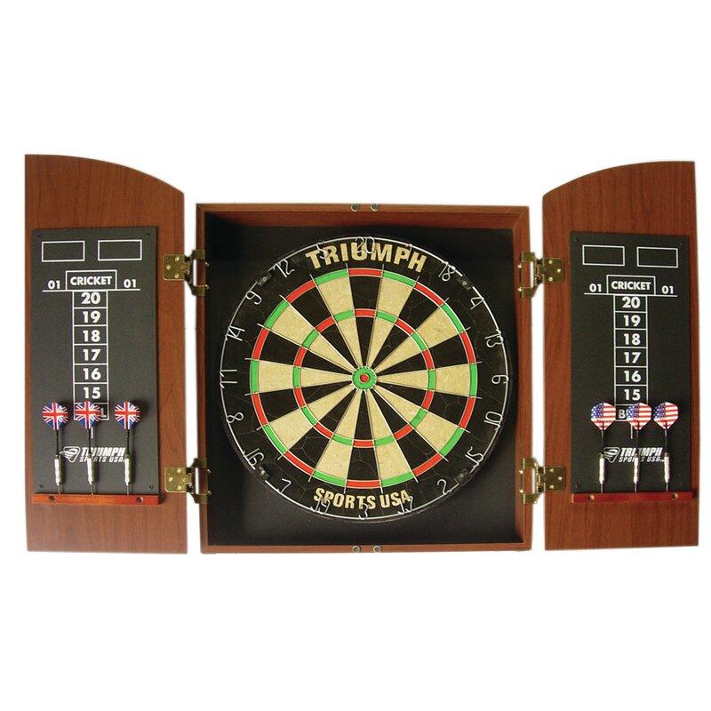 Triumph Sports Usa Wellington Bristle Dartboard Cabinet Reviews Wayfair