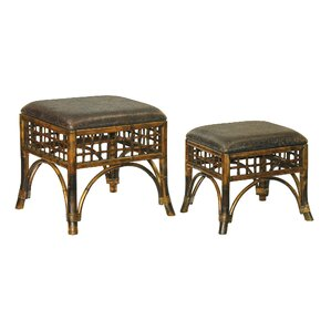 Furniture 2 Piece Stitch Point Ottoman Set by Sterling Industries