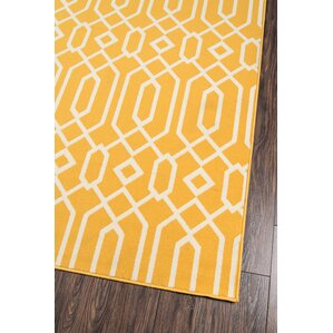 Reinosa Yellow U0026 White Indoor/Outdoor Area Rug